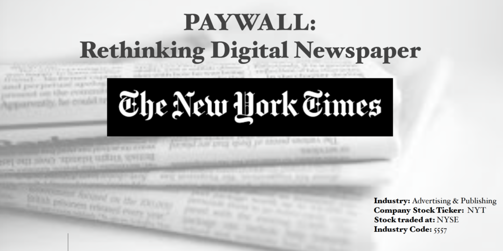 NEW YORK TIMES: Paywall – Rethinking Online News – Didi Lau